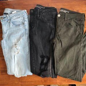 AE BUNDLE Super Stretch Skinny Jeans